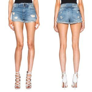 RtA Salvador Ripped Jean Shorts in Destroyed Daze